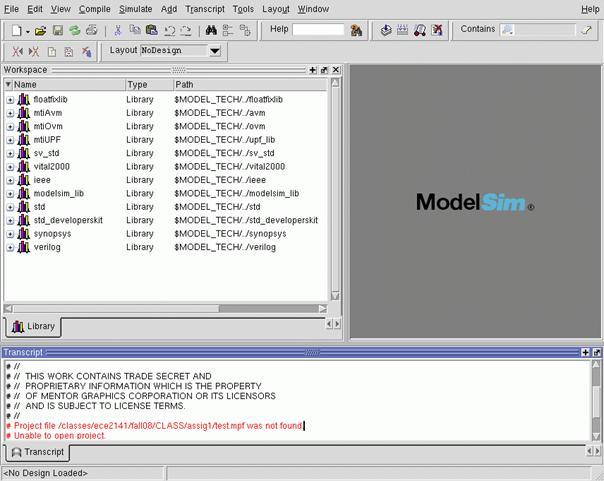 Simulation with Modelsim